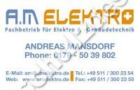 AM-Elektro-Aufkleber-Adresse 85mmB x 55mmH