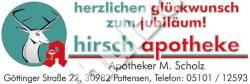 Hirsch-Apotheke-Anzeige-Herold-1,16-Jubilaeum