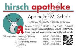 Hirsch-Apotheke-Anzeige-Visitenkarte