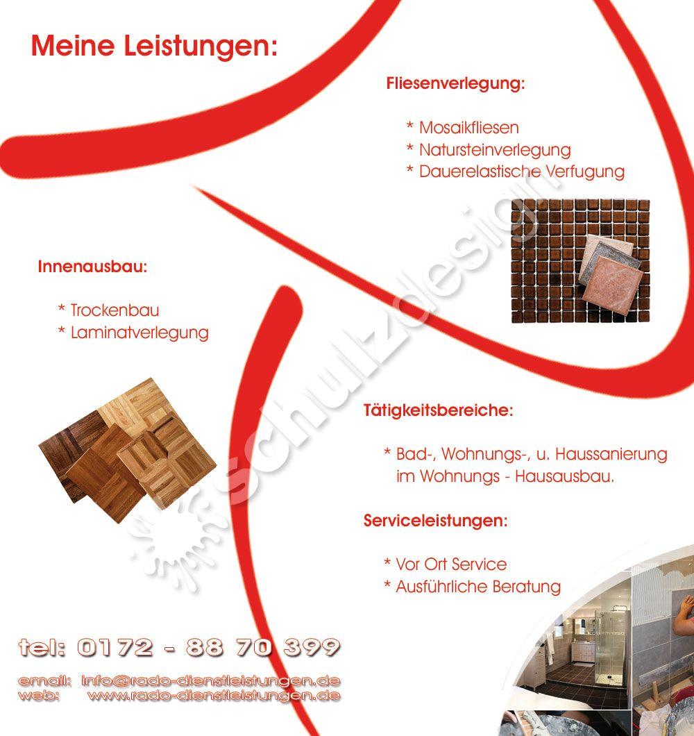 Rado Fliesenleger Sehnde Werbung Webdesign Fotografie