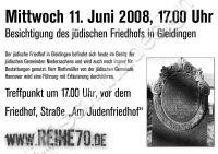 Plakat DIN A4 2008-06-10 Judenfriedhof