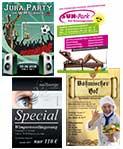 Werbung / Werbedesign moderne Anzeigengestaltung