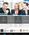 Webdesign Referenz It-Unternehmen geschäftliches Design