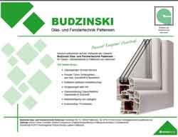 Webdesign Webseite Budzinski Glas- und Fenstertechnik Pattensen