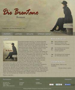 Webdesign Produktwebseite Roman