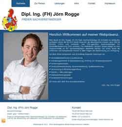 Webdesign Dipl. Ing. Jörn Rogge freier Sachverständiger Stemmen