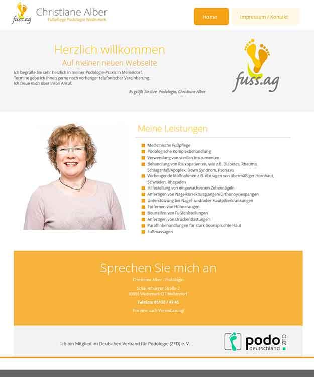 Webdesign Fußpflege Podologie Wedemark