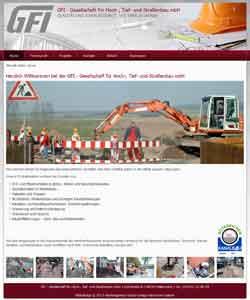 Webdesign Hoch-, Tief- und Straßenbau Bauunternehmen Wallmoden