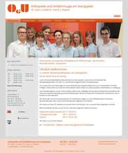 Webdesign Gemeinschaftspraxis Orthopaedie und Unfallchirurgie am Georgsplatz Hannover