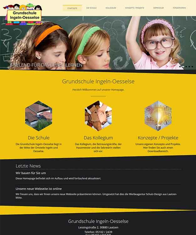 Webdesign Grundschule Ingeln-Oesselse, Laatzen
