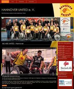 Webdesign Hannover-United e. V. Rollstuhlbasketball, Hannover
