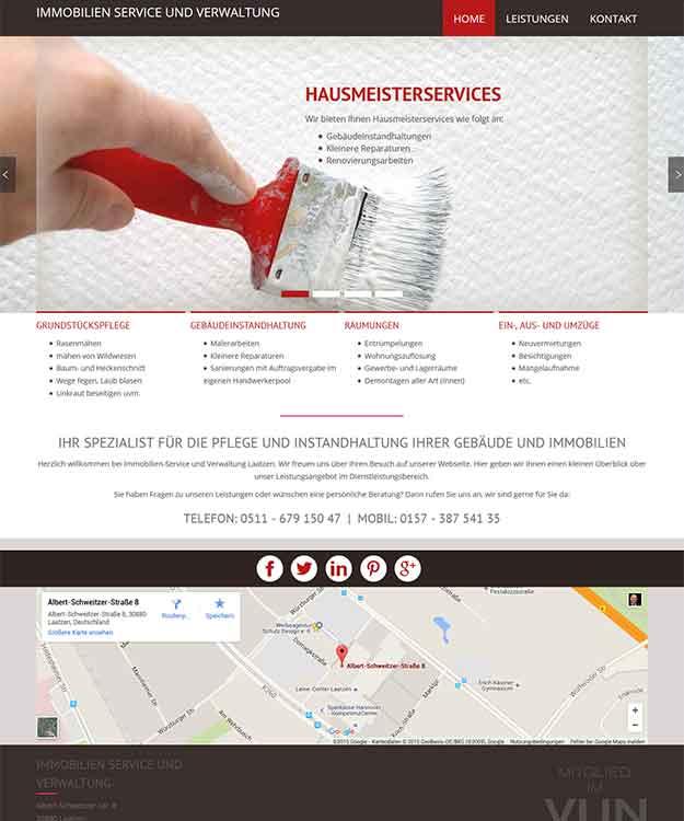 Webdesign Immobillien Service und Verwaltung Laatzen Hannover