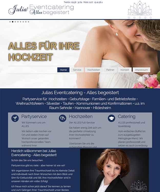Webdesign ALLES Eventagentur - Eventcatering, Sehnde