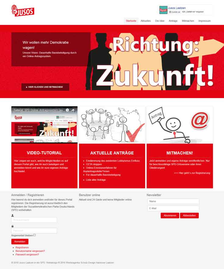 Webdesign SPD Jusos Laatzen