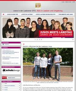 Webdesign Webseite der Jusos AG SPD-Laatzen