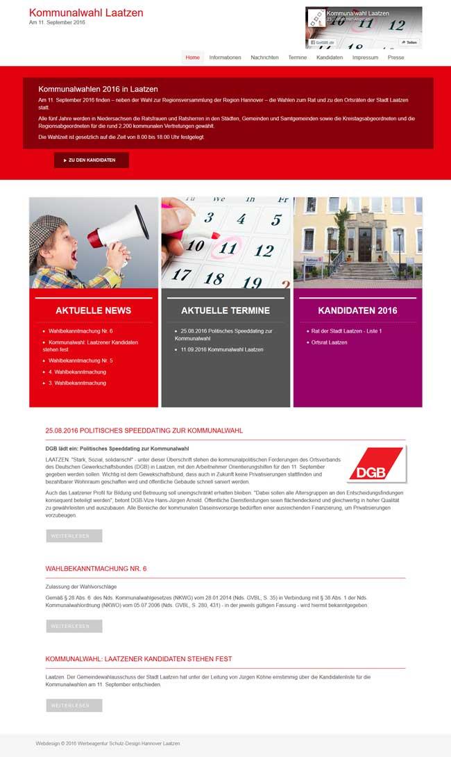 Webdesign Kommunalwahl Laatzen Web-Design Laatzen