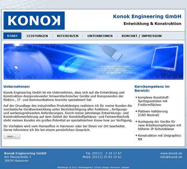 Webdesign Konok Engineering GmbH Entwicklung & Konstruktion Dipl.-Ing.(FH) Norbert Köhler, Hannover