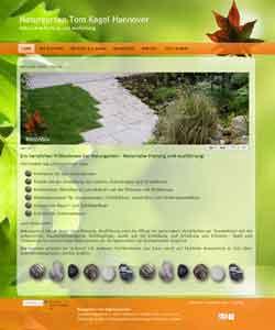 Webdesign Webseite Naturgarten Garten- und Landschaftsbau Tom Kagel Hannover