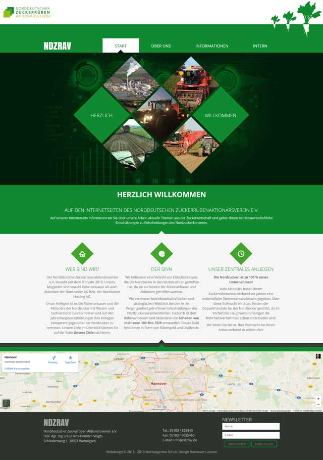 Webdesign Aktionärsverein Hemmingen Hildesheim