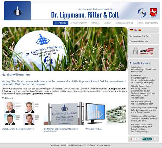 Webdesign Laatzen. Webseite für Anwälte und Rechtsanwaltskanzleien