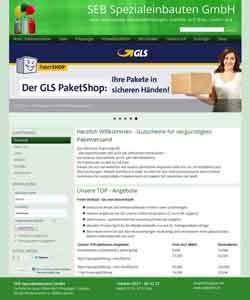 Webdesign SEB Spezialeinbauten GmbH technische Gase, Helium, Paketshop 1&1 Profiseller, GLS Shop Laatzen