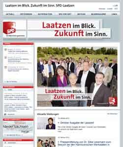 Webdesign Webseite der SPD Laatzen