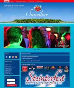 Webdesign Sansibar Hannover Bar Club Lounge Kneipe, Hannover - Steintor