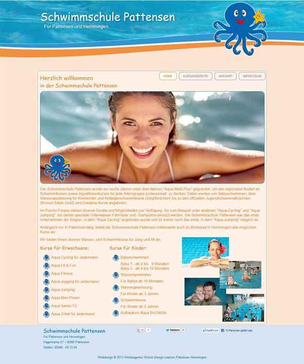 Webdesign Webseite Schwimmschule Pattensen Aqua medi Plus, Pattensen, Hemmingen