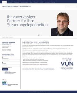 Webdesign Steuerberater Christian Baxmann, Laatzen