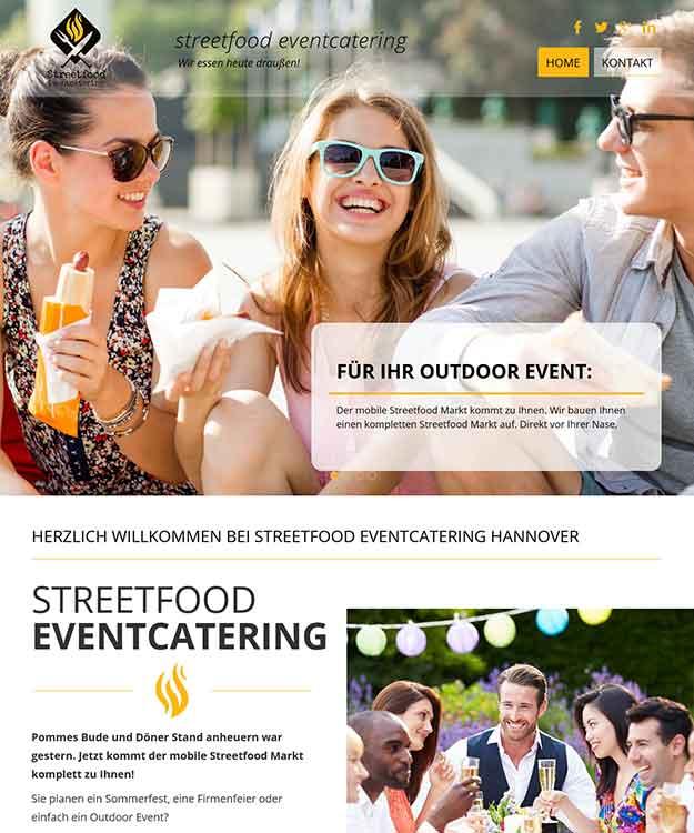 Webdesign Streetfood Evencatering Caterer Catering Hannover