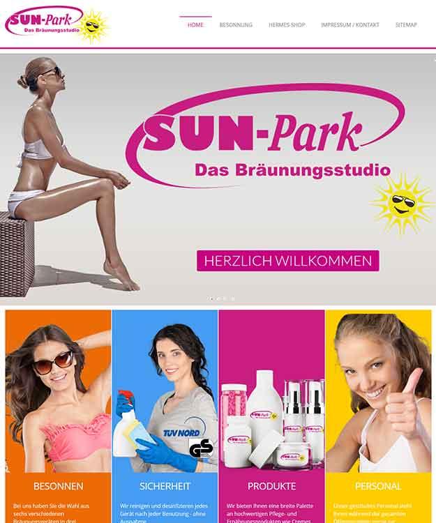 Webdesign Sun-Park Solarium Sonnenbank Bräunungsstudio Pattensen