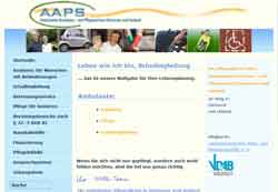 Webdesign Ambulanter Assistenz- und Pflegeservice Hannover