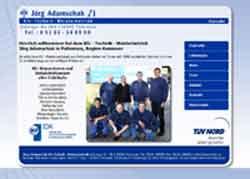 Webdesign Adamschak Kfz Technik Pattensen