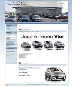 WebdesignAHG Gabrisch Nissan & Suzuki Autohaus Hemmingen