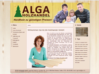 Webdesign ALGA Holzhandel Bad Oldesloe