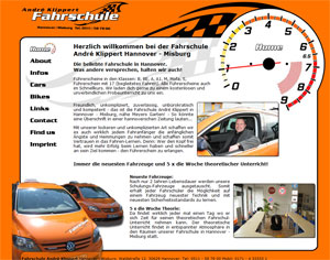 Webdesign Fahrschule André Klippert Hannover - Misburg