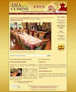 Webdesign asiatisches Restaurant Asia Cuisine Hannover