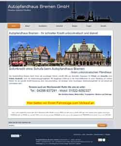 Webdesign Autopfandhaus Bremen