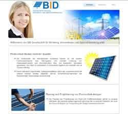 Webdesign Photovoltaik- Anlagen und Vertrieb