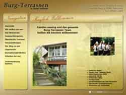 Webdesign Restaurant Burg Terrassen Pattensen