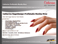 Webdesign Catherine Nageldesign Profistudio Monika Mroz Pattensen