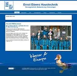 Webdesign Daewes Haustechnik Lehrte