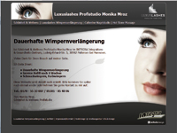 Webdesign Luxuslashes Profistudio Monika Mroz Pattensen