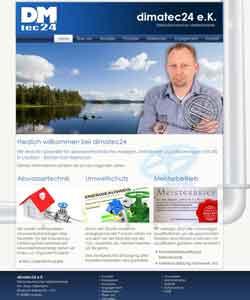 Webdesign dimatec24 Abwassertechnik Marc Diekmann, Laatzen