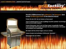 Webdesign Grillfactory Grillfachgeschäft Hannover