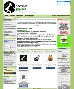 Webdesign Online Shop Tiernahrung Hannover - Laatzen