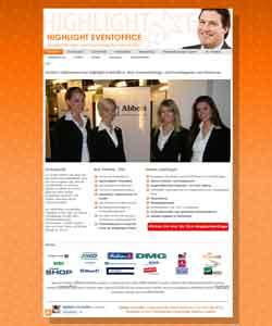 Webdesign Veranstaltungsagentur Highlight Eventoffice Hannover