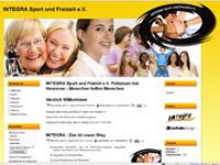 Webdesign INTEGRA Sport und Freizeitzentrum e.V. Pattensen