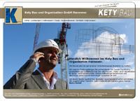 Webdesign Kety Bau und Organisation GmbH Hannover