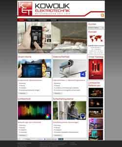 Webdesign Kowolik ElektroTechnik Hannover